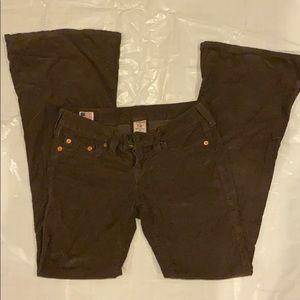 True Religion Corduroy Flare Jeans